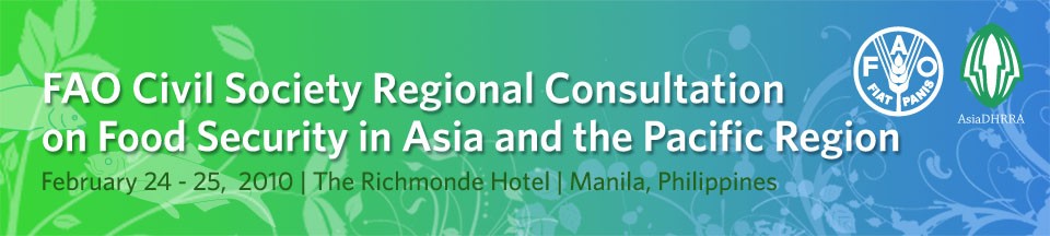 FAO Civil Society Regional Consultation on Food Security in Asia and the Pacific Region